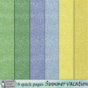 Summer vacation glitter papers