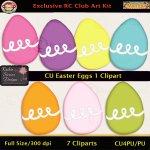 Easter Eggs 1 Clipart - CU