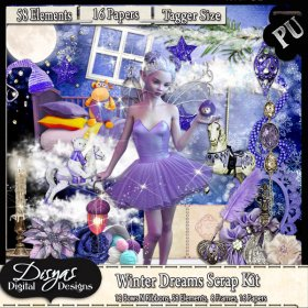 WINTER DREAMS SCRAP KIT - TAGGER SIZE