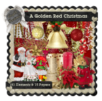 AngelKKreationZ-AGoldenRedChristmas TS Kit PU