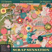 Scrap Sensations Tagger Size Kit With CU Bonus Alpha