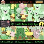 Lucky Baby Minty Bear - CU Kit