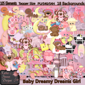 Baby Dreamy Dreams Girl With Bonus - Tagger Size