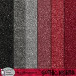 Gothic nights glitter papers