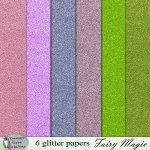 Fairy magic glitter papers