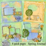 Spring Journal quick pages