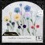 DoodleSet 01-Painted Flowers