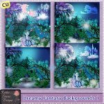Dreamy Fantasy Backgrounds 1 CU