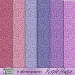 Purple haze glitter papers