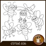 CU Vol. 026 Bees Doodles by Lemur Designs