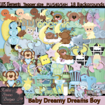 Baby Dreamy Dreams Boy With Bonus - Tagger Size