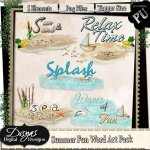 SUMMER FUN WORD ART PACK TAGGER SIZE