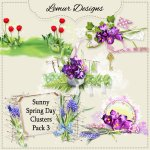 Sunny Spring Day Clusters Pack3 by Lemur Designs