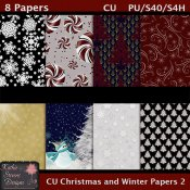 Christmas And Winter Papers 2 CU Tagger Size