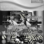 Black and White Freebie Scrapkit