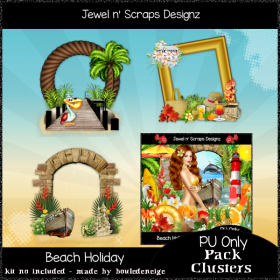 Clusters Frame - Beach Holiday