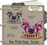 Bat With Sign Script