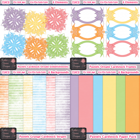 Pastels Cardstock Packs Bundle - CU4CU
