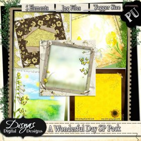 A WONDERFUL DAY STACKED PAPER PACK TAGGER SIZE