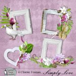 Simply love cluster frames
