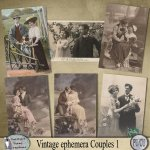 Vintage Ephemera Couples 1