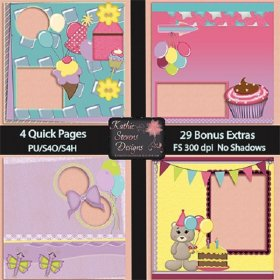 Birthday Celebration Quick Pages With Bonus Extras