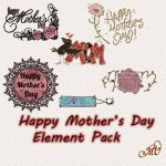 Happy Mother's Day Element Pack