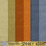Spooky nights glitter papers