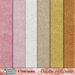 Golden glamour glitter papers