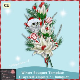 Winter Bouquet - Layered Template CU