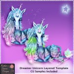 Dreamer Unicorn - Layered Template CU