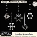 SNOWFLAKE PENDANTS PACK CU - FULL SIZE