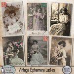 Vintage ephemera Ladies 1