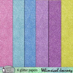 Whimsical Journey glitter papers