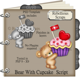 Bear With Cupcake Script