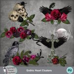 Gothic Heart Clusters