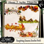 THANKSGIVING SEASON BORDER PACK - TAGGER SIZE