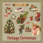 Vintage Christmas element pack
