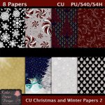 Christmas And Winter Papers 2 CU