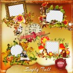 Simply Fall Clusters by Lemur Designs