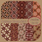 Autumn Bloom Papers Set 2