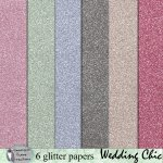 Wedding Chic glitter papers