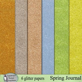 Spring Journal glitter papers