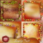 Simply Fall Stacked Papers by Lemur Designs