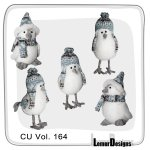 CU Vol. 164 Winter Birds by Lemur Designs