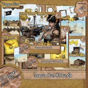 TREASURE HUNT SCRAPKIT BUNDLE - TAGGER SIZE