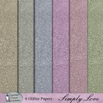 Simply love glitter papers
