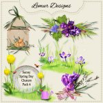 Sunny Spring Day Clusters Pack4 by Lemur Designs