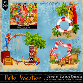 Clusters Frame PU - Hello Vacation