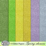 Spring shower glitter papers
